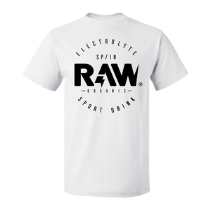 CAMISETA ROUND LOGO RAW® - WHITE
