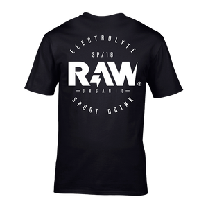 CAMISETA ROUND LOGO RAW® - BLACK