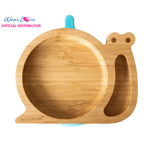 Pink Detachable Suction Base Ladybird Shaped Baby Suction Plate| Stay Put Feeding Plate for Weaning with Two Sections eco rascals Natural Bamboo Plates for Baby Toddler