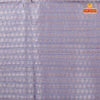 Orange plain jute silk with contrast blouse and pallu