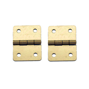 A051 Kit - 3/4'' Width X 1'' Height Hinges, Brass Finish, Screws