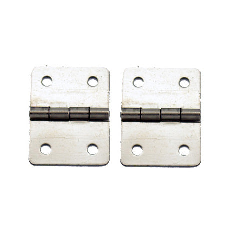 A052 Kit - 3/4'' Width X 1'' Height Hinges, Nickel Finish, Screws
