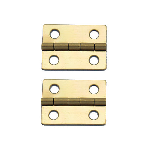 A061 Kit - 1'' Width X 3/4'' Height Hinges, Brass Finish, Screws