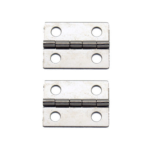 A062 Kit - 1'' Width X 3/4'' Height Hinges, Nickel Finish, Screws