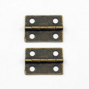 A064 Kit - 1'' Width X 3/4'' Height Hinges, Antique Br.  Finish, Screws