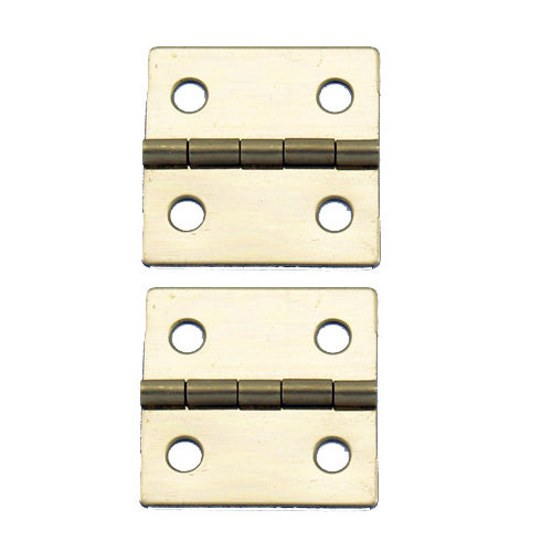 A081 Kit - 1'' Width X 1'' Height Hinges, Brass Finish, Screws