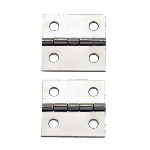 A082 Kit - 1'' Width X 1'' Height Hinges, Nickel Finish, Screws
