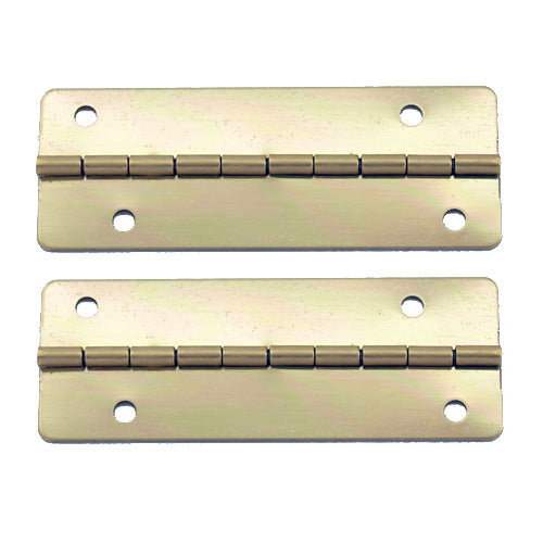 A161 Kit - 2'' Width X 3/4'' Height Offset Hinges, Brass Finish, Screws