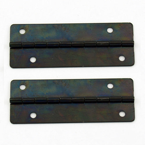 A163 Kit - 2'' Width X 3/4'' Height Offset Hinges, Black Ni.  Finish, Screws