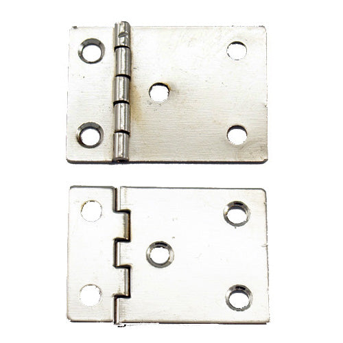 A322 - 1'' Width X 1 1/2'' Height Reverse Binder Hinge, Nickel Finish