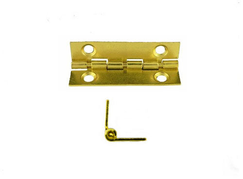 A711 - 1'' Width X 3/4'' Height Inside Stop Hinge, Brass Finish