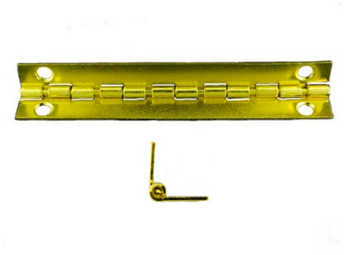 A731 - 3'' Width X 3/4'' Height Inside Stop Hinge, Brass Finish