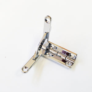 A862 - 1 1/4'' X 1 1/4'' Solid Br. Nickel Finished Quadrant Hinge