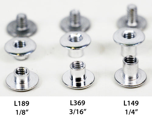 L389 - 3/8'' Aluminum Chicago Screw - Screw Post
