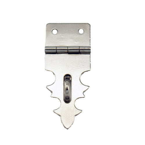 B202 Kit - 3/4'' Width X 1 7/8'' Height Dec. Hasp, Nickel Finish, screws