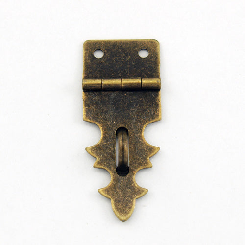 B204 - 3/4'' Width X 1 7/8'' Height Small Antique Br. Dec. Hasp