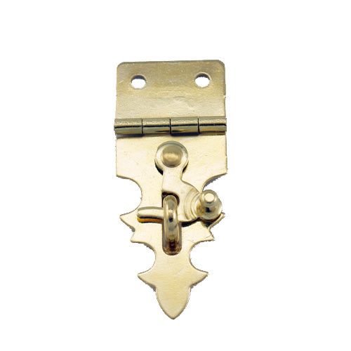 B301 Kit - 3/4'' Width X 1 7/8'' Height Dec. Hasp w/Swing, Brass Finish, screws