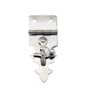 B302 Kit - 3/4'' Width X 1 7/8'' Height Dec. Hasp w/Swing, Nickel Finish, screws