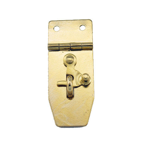 B311 Kit - 3/4'' Width X 1 7/8'' Height Hasp w/Swing, Brass Finish, screws