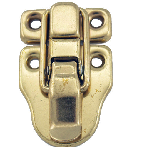 B391 - 1 1/2'' Width X 2 3/8'' Height Draw Catch, Brass Finish Latch