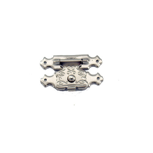C702 - 1'' Width X 5/8'' Height Dec. Latch Catch, Nickel Finish