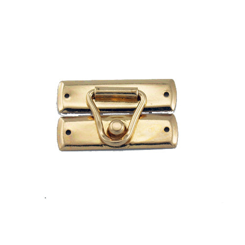 C741 - 1 1/8'' Width X 3/4'' Height Wire Latch Catch, Brass Finish
