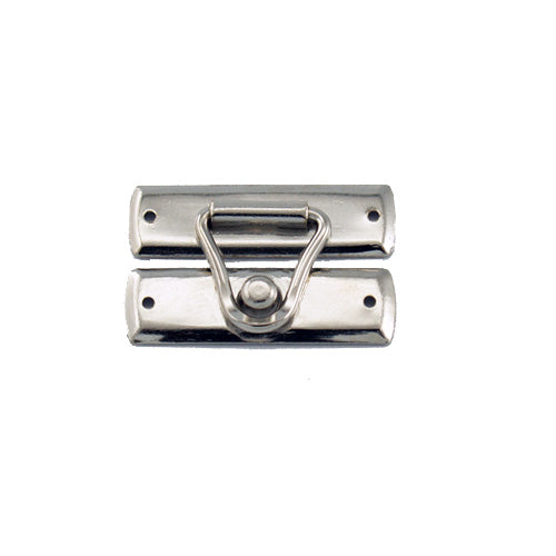 C742 - 1 1/8'' Width X 3/4'' Height Wire Latch Catch, Nickel Finish