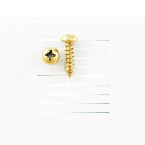 E121-6R - 1/2'' # 6 Brass Round Head Philips Screw (10 pack)