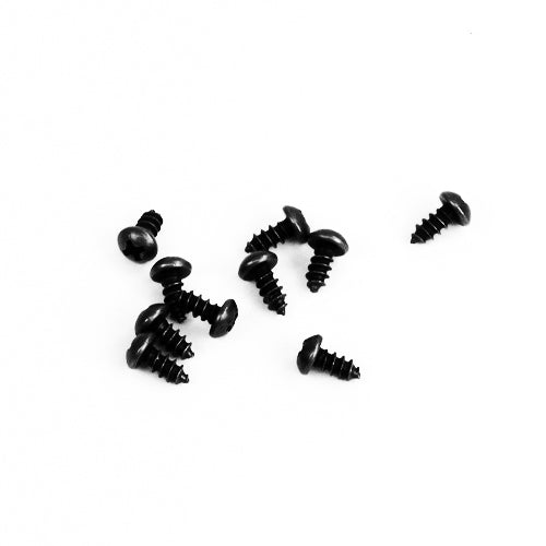 E143-4R - 1/4'' # 4 Black Ni. Round Head Philips Screw (10 pack)