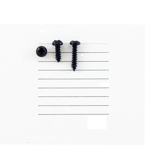 E143-2R - 1/4''  # 2 Black Ni Round Head Philips Screw (100 pack)