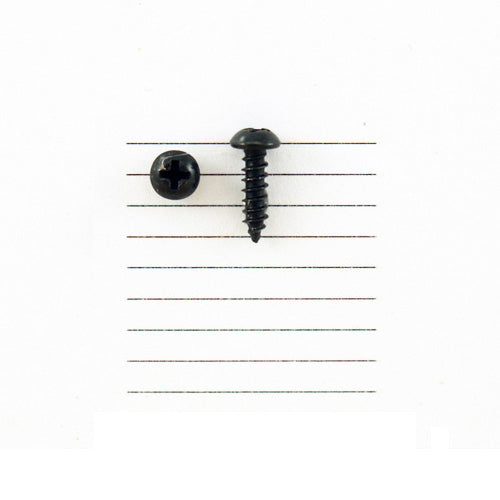 E383-4R - 3/8'' # 4 Black Ni. Round Head Philips Screw (10 pack)