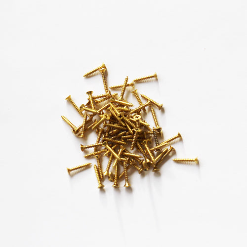 E381-0F - 3/8'' # 0 Brass Flat Head Philips Screw (100 pack)