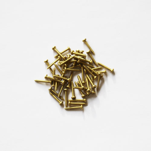 E381-0R - 3/8'' # 0 Brass Round Head Philips Screw (100 pack)