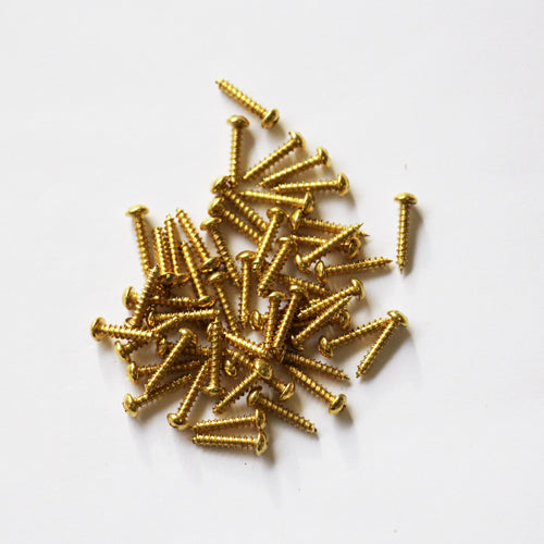 E381-1R - 3/8'' # 1 Brass Round Head Philips Screw (100 pack)