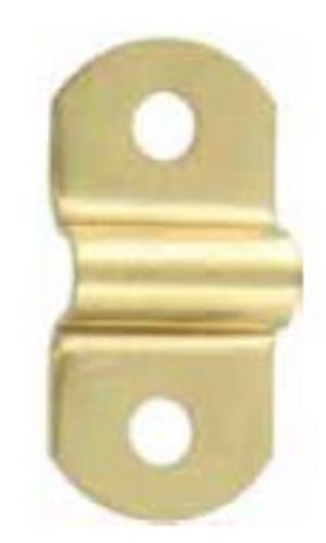 F181 - 1 3/8'' X 5/8'' Brass Finish Handle Loop