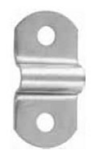 F182 - 1 3/8'' X 5/8'' Nickel Finish Handle Loop
