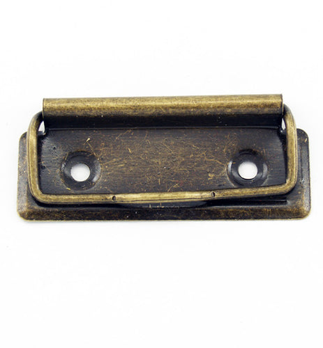 H824 - 2 3/4'' Small Antique Br. Clipboard Clips