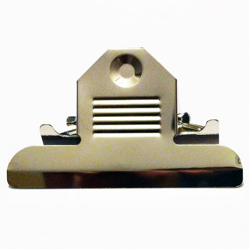 H872 - 3 3/8'' Nickel Clipboard Clips