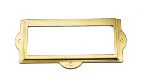 J401 - 3 1/2'' Width x 1 1/2'' Height Brass Plated Cardholder