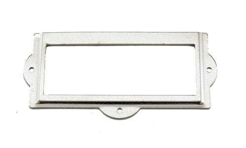 J402 - 3 1/2'' Width x 1 1/2'' Height Nickel Plated Cardholder