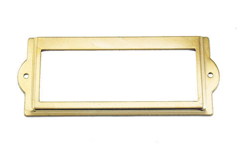 J431 - 3 1/2'' Width x 1 1/2'' Height Brass Plated Cardholder