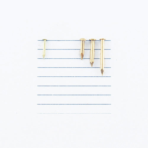 K141 - 1/4'' #20 Solid Brass Escutcheon Pins (1 oz.)