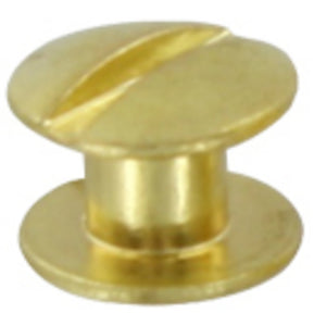 L361 - 3/16'' Brass Chicago Screw - Screw Post