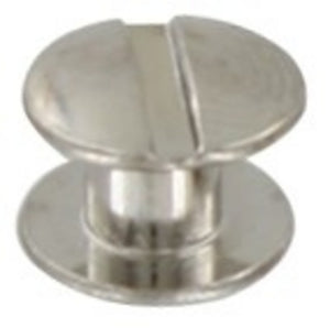 L362- 3/16'' Nickel plated Brass Chicago Screw - Screw Post
