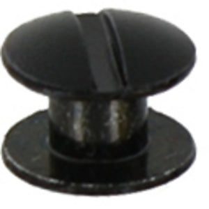 L363- 3/16'' Black Ni. plated Brass Chicago Screw - Screw Post