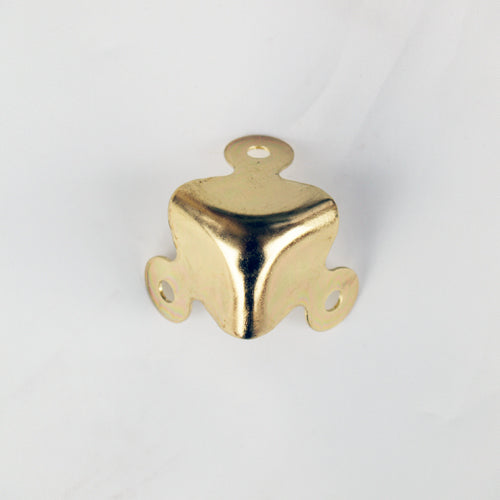 S781 - Large Brass Plated Corners