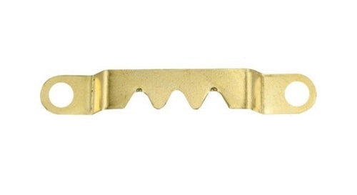 U271 - Small Saw Tooth Hanger Brass (10 pack)