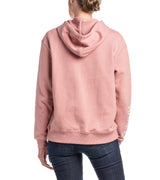 Sleeve Print Hooded Sweatshirt (Rose)