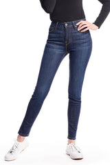 WHITNEY : High-Rise Skinny (Deep Ocean) Gold Stitch