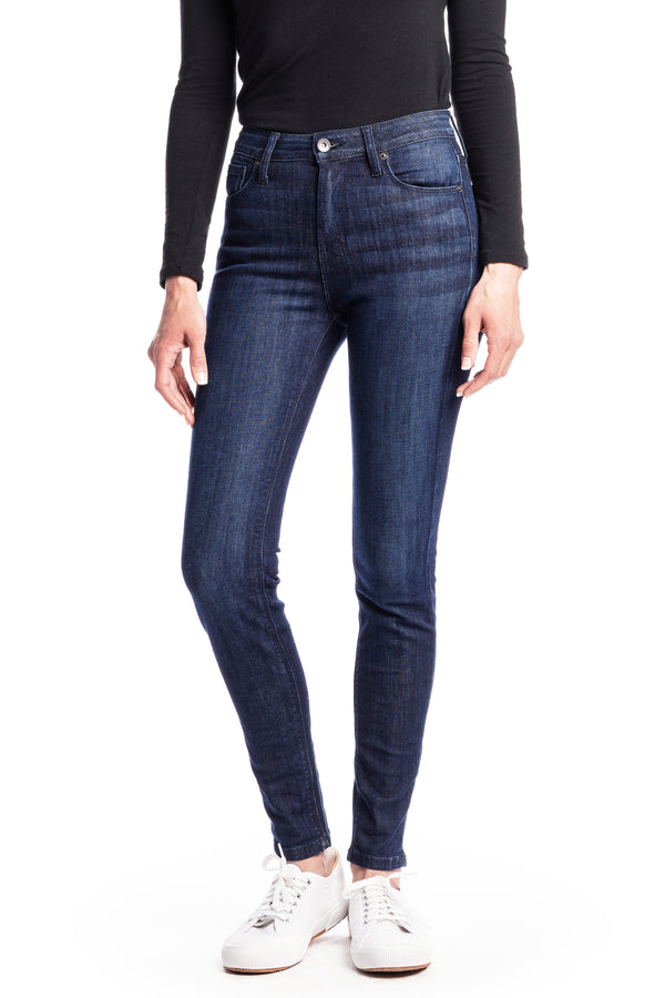 WHITNEY : High-Rise Skinny (Deep Ocean) Navy Stitch